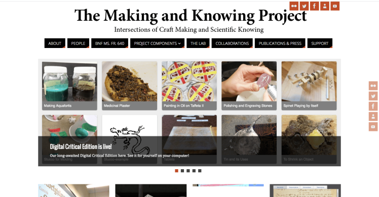 Making and Knowing Project screenshot